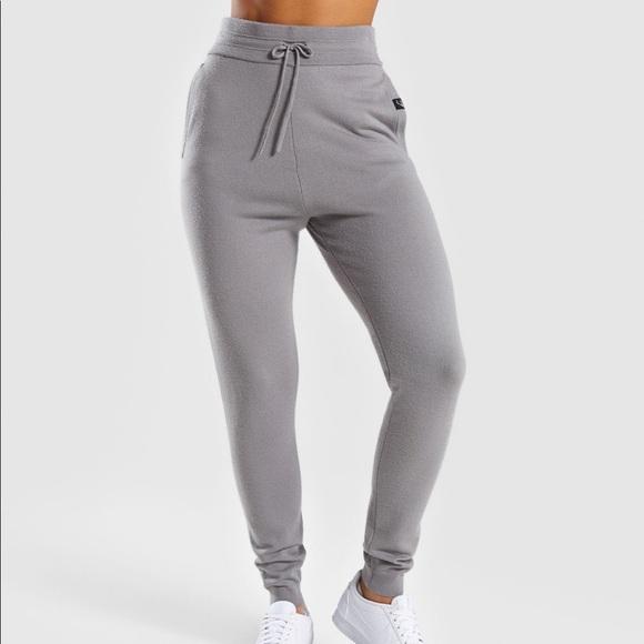 d5b7c8835d8f89 Gymshark Pants | Isla Knit Jogger Light Gray | Poshmark